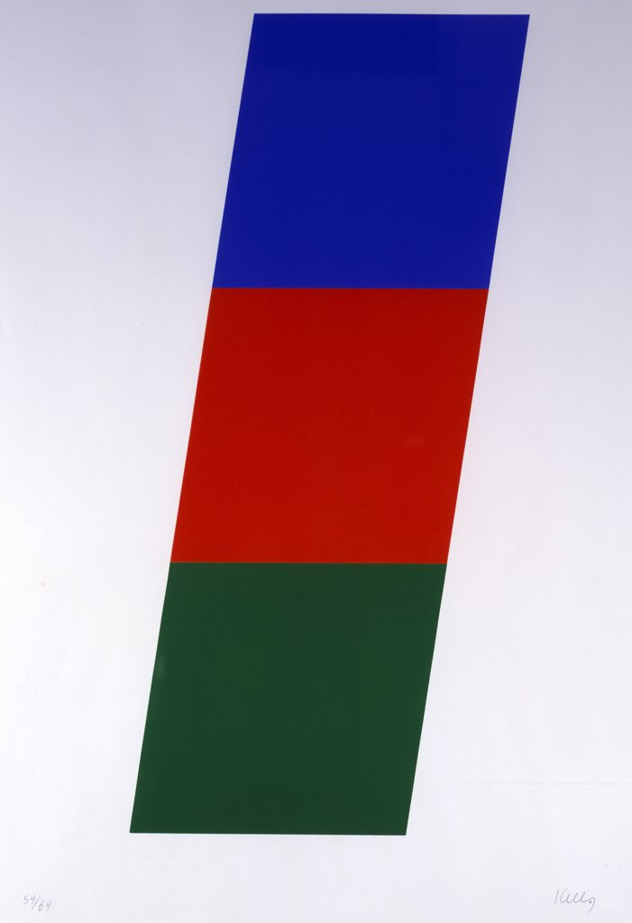 Stock Photo: 888-8117 Green/Red-Orange/Blue by Ellsworth Kelly, 1971, b.1923, USA, Florida, Jacksonville, Collection of The Museum of Contemporary Art