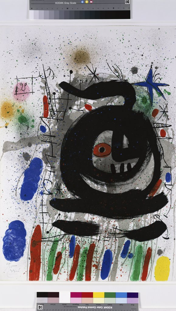 Metras by Joan Miro, lithograph, 1968, 1893-1983, USA, Florida, Jacksonville, Collection of The Museum of Contemporary Art : Stock Photo