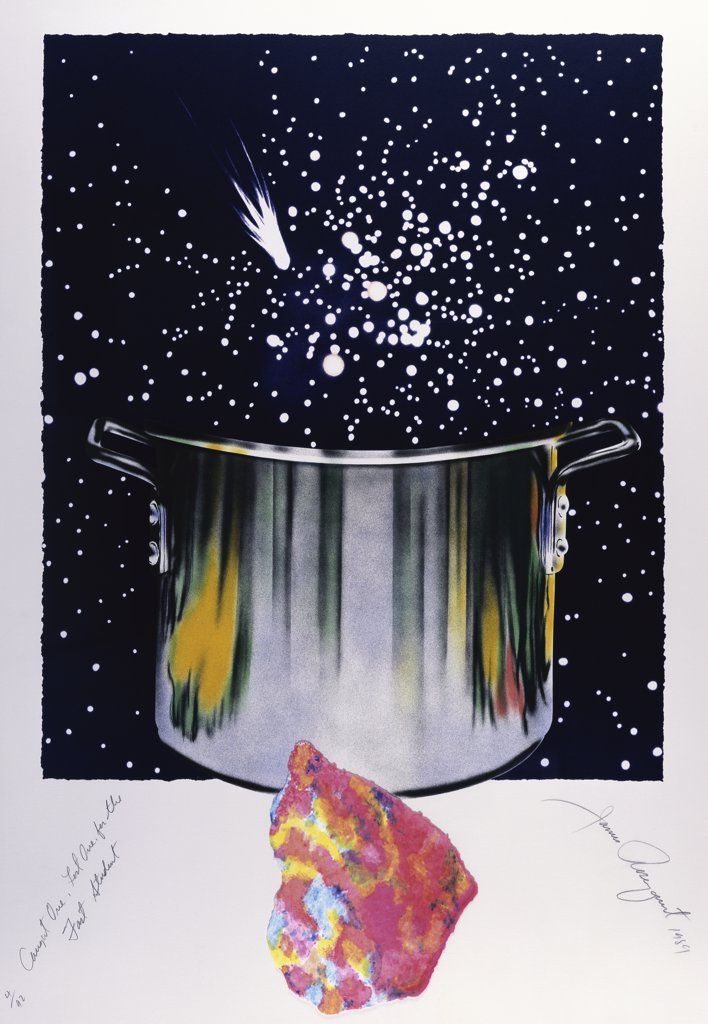 Stock Photo: 888-8127 Caught One, Lost One, For The Fast Student or Star Catcher by James Rosenquist, lithograph, b.1933, USA, Florida, Jacksonville, Collection of The Museum of Contemporary Art