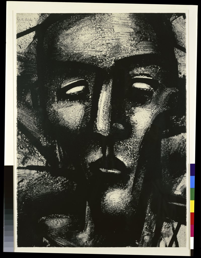 Untitled by Robert P. Gordy, lithograph, 1986, b.1933, USA, Florida, Jacksonville, Collection of The Museum of Contemporary Art. : Stock Photo