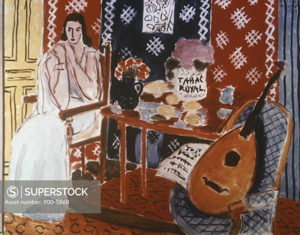 Stock Photo: 900-5868 Tabac Royal by Henri Matisse, oil on canvas, 1869-1954
