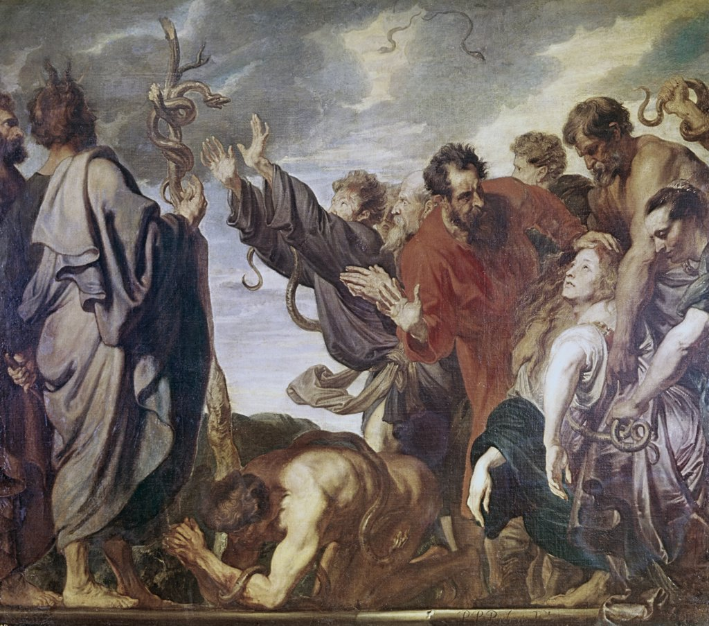 Stock Photo: 900-100180 Moses & The Brazen Serpent Anthony van Dyck (1599-1641 Flemish) Museo del Prado, Madrid, Spain