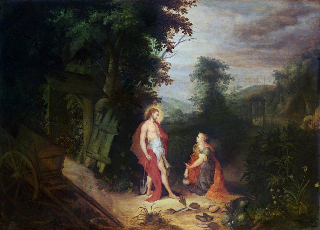 Noli Me Tangere Abraham Govaerts (1589-1626 Flemish) : Stock Photo