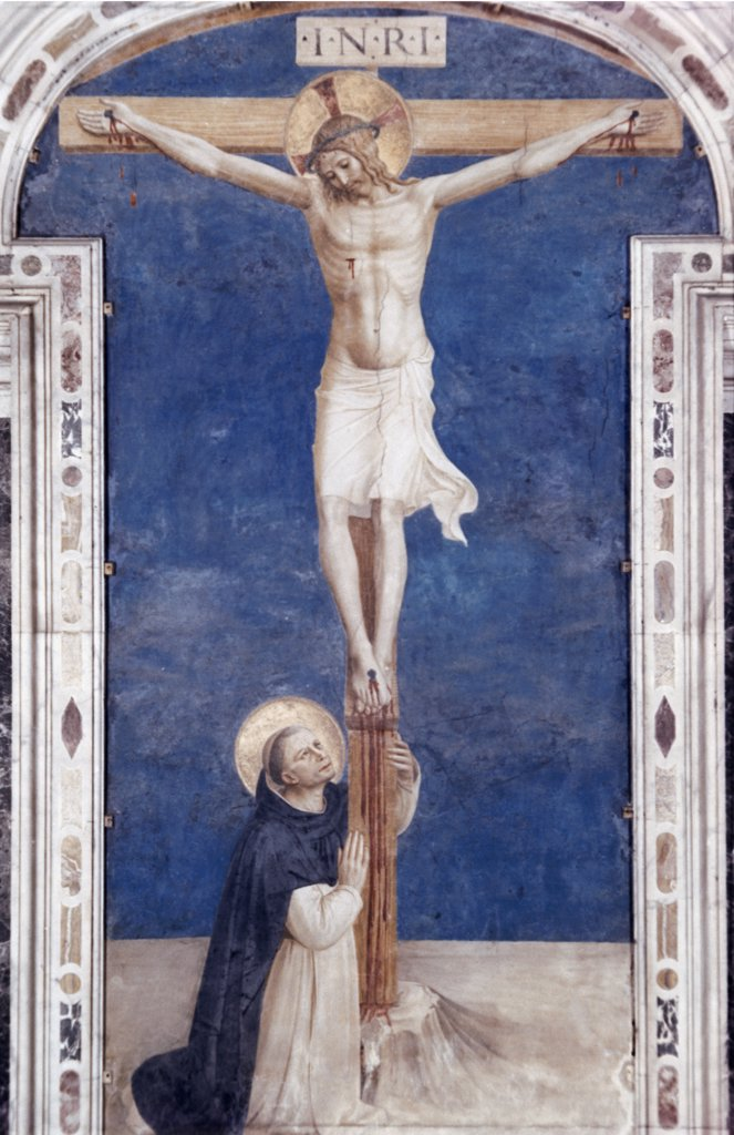 Stock Photo: 900-100710 Crucifixion With St. Dominick