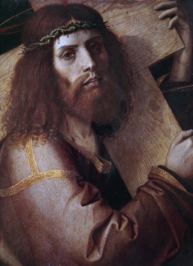Stock Photo: 900-101098 The Cross-Bearing Christ