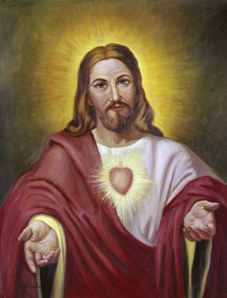 Sacred Heart of Jesus Vittorio Bianchini (1797-1880, Italian) : Stock Photo
