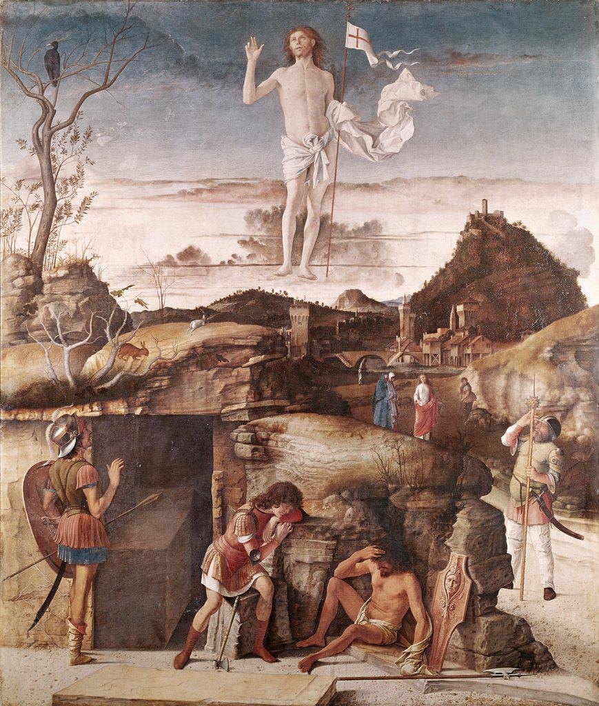 Stock Photo: 900-101219 The Resurrection of Christ Giovanni Bellini (ca.1430-1516 Italian)