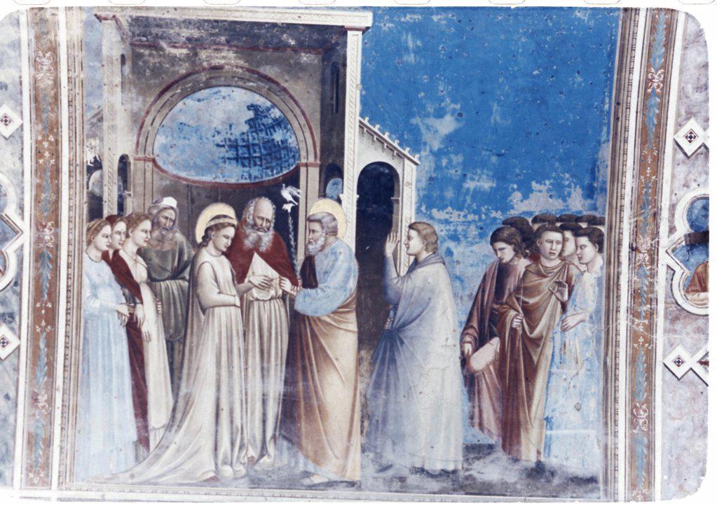 Stock Photo: 900-101262 The Marriage of the Virgin 1304-5 Giotto (ca.1266-1337 Italian) Fresco Capella Scrovegni, Padua, Italy