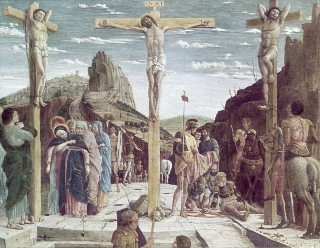 Stock Photo: 900-101284 Calvary ca. 1456-I460 Andrea Mantegna (1431-1506 Italian) Oil on panel Musee du Louvre, Paris, France