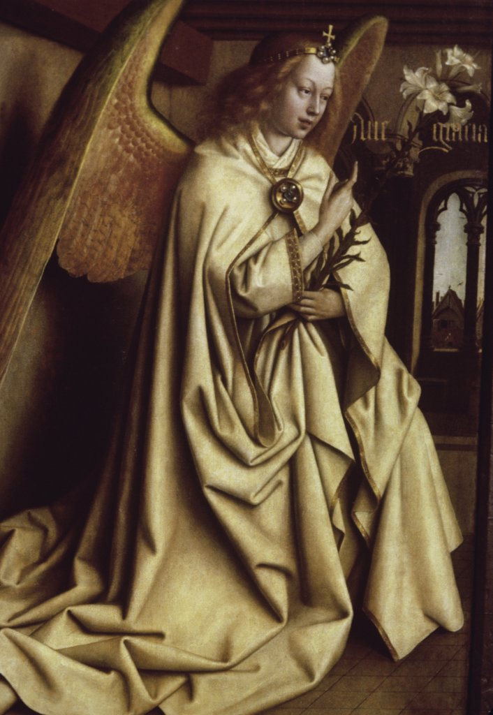 Stock Photo: 900-101399 Archangel Gabriel (Ghent Altarpiece)