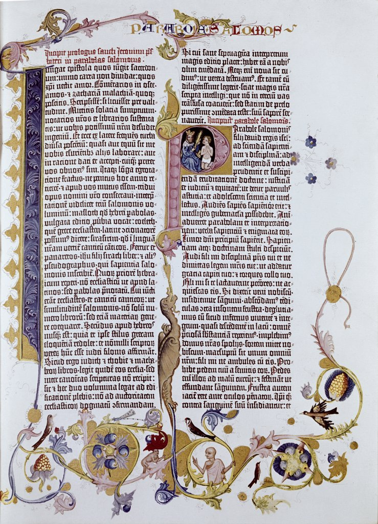 Stock Photo: 900-101710 Gutenberg Bible 