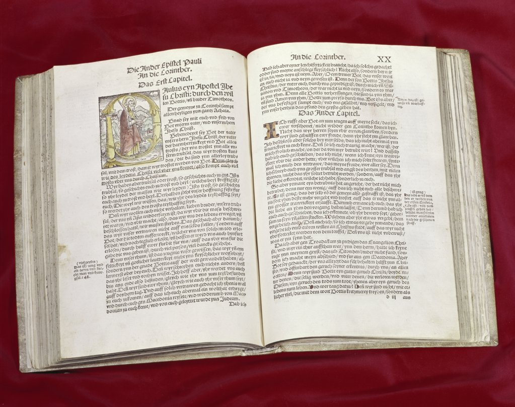 Stock Photo: 900-101715 Martin Luther Bible: St. Luke's Gospel