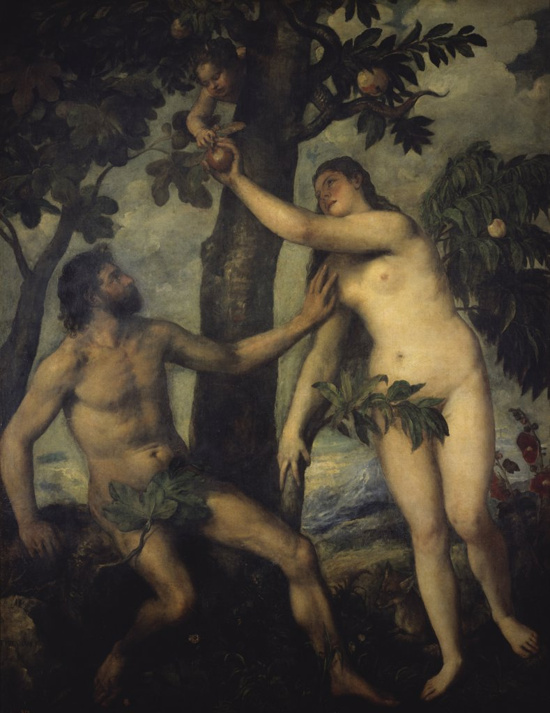 Stock Photo: 900-101745 The Temptation of Adam and Eve 