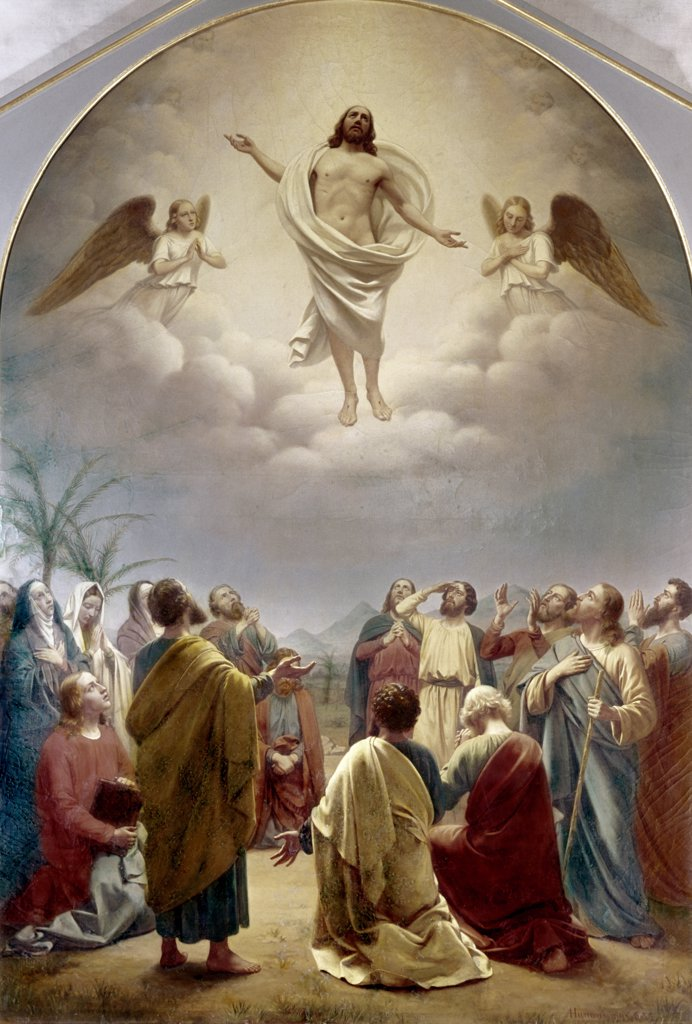 Stock Photo: 900-101759 The Ascension Andreas Herman Hunaeus (1814-1866 Danish)
