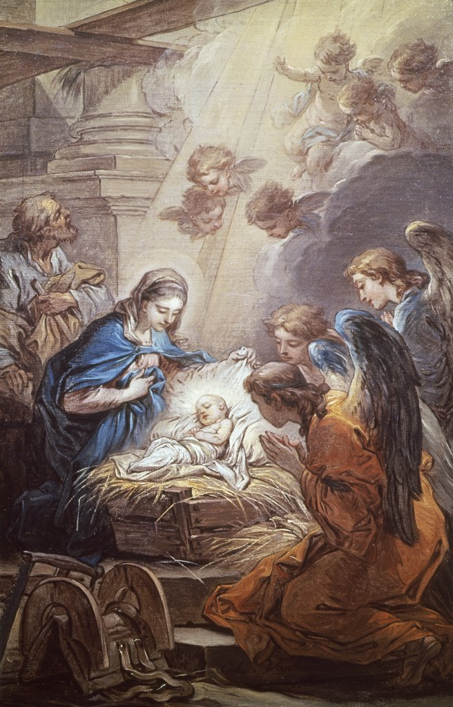 Stock Photo: 900-101889 Nativity Carle Vanloo (1705-1765 French)