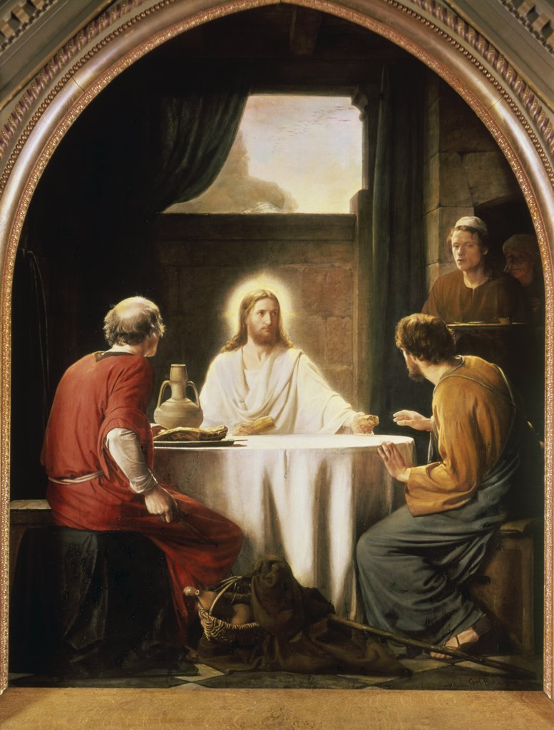 Stock Photo: 900-102219 Christ at Emmaus