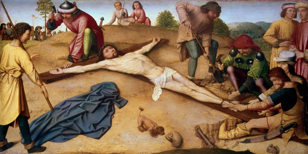 Stock Photo: 900-102291 Christ Nailed to the Cross