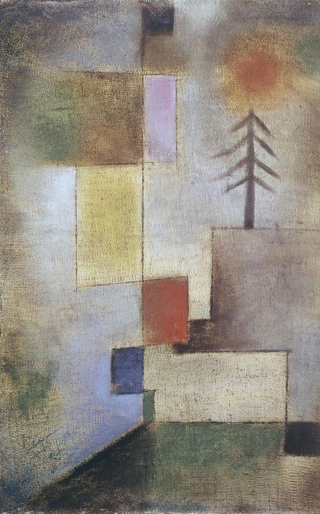 Stock Photo: 900-102888 Small Pine Tree Paul Klee (1879-1940 Swiss)
