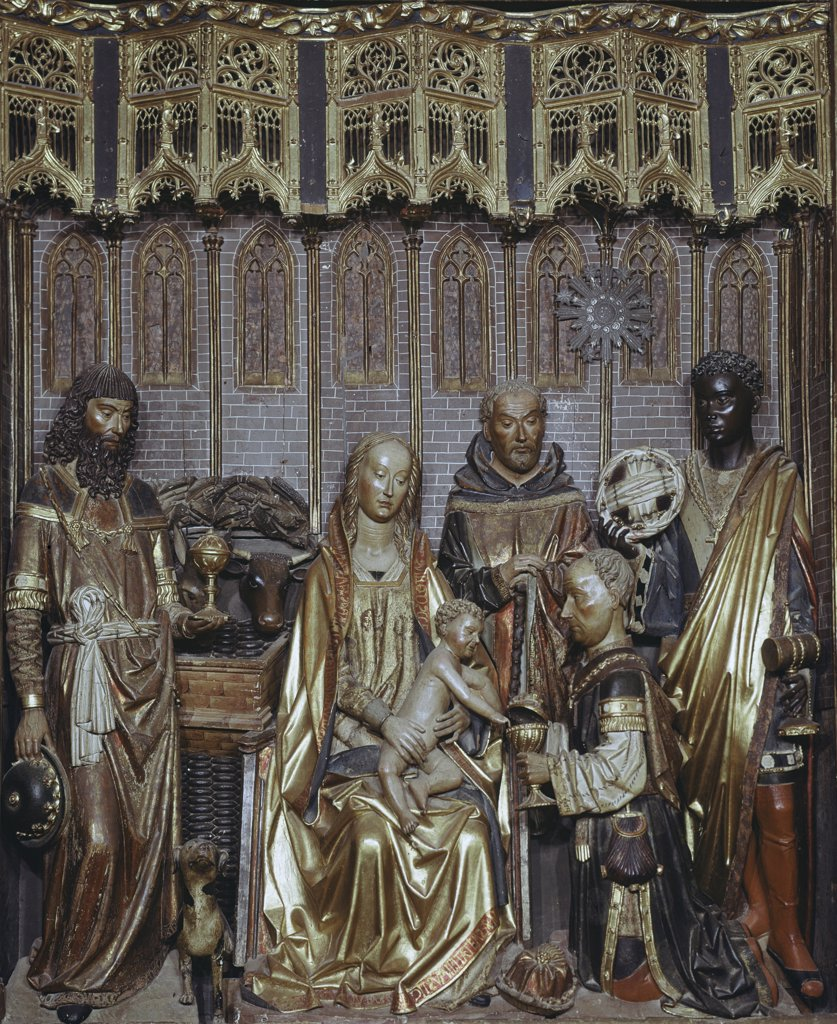 Adoration Of The Magi Gil de Siloe (15th C. Spanish) Wood : Stock Photo