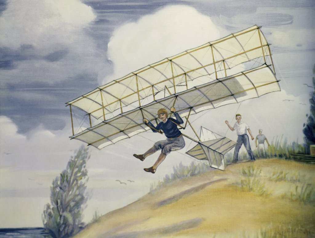 Stock Photo: 900-103250 The Glider Of Octave Chanute 