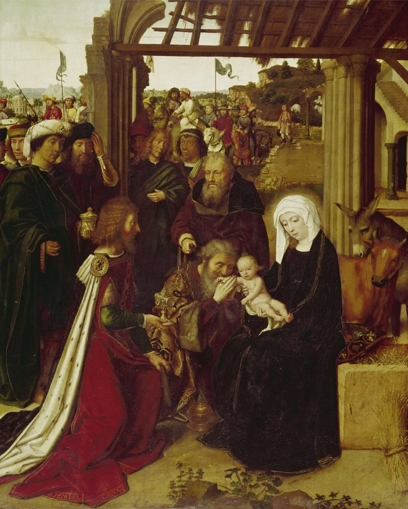 Adoration Of The Magi by Gerard David, (C.1460-1523) : Stock Photo