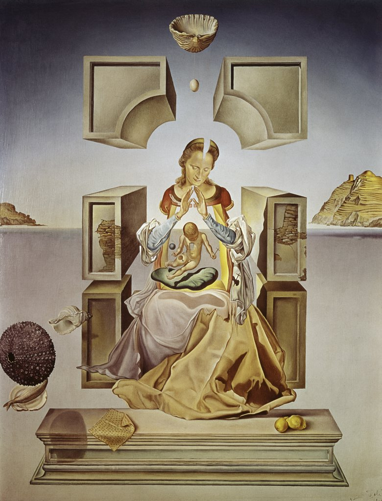 Stock Photo: 900-103685 Madonna Of Port Lligat by Salvador Dali, oil on canvas, 1949, 1904-1989, USA, Wisconsin, Milwaukee, Marquette University