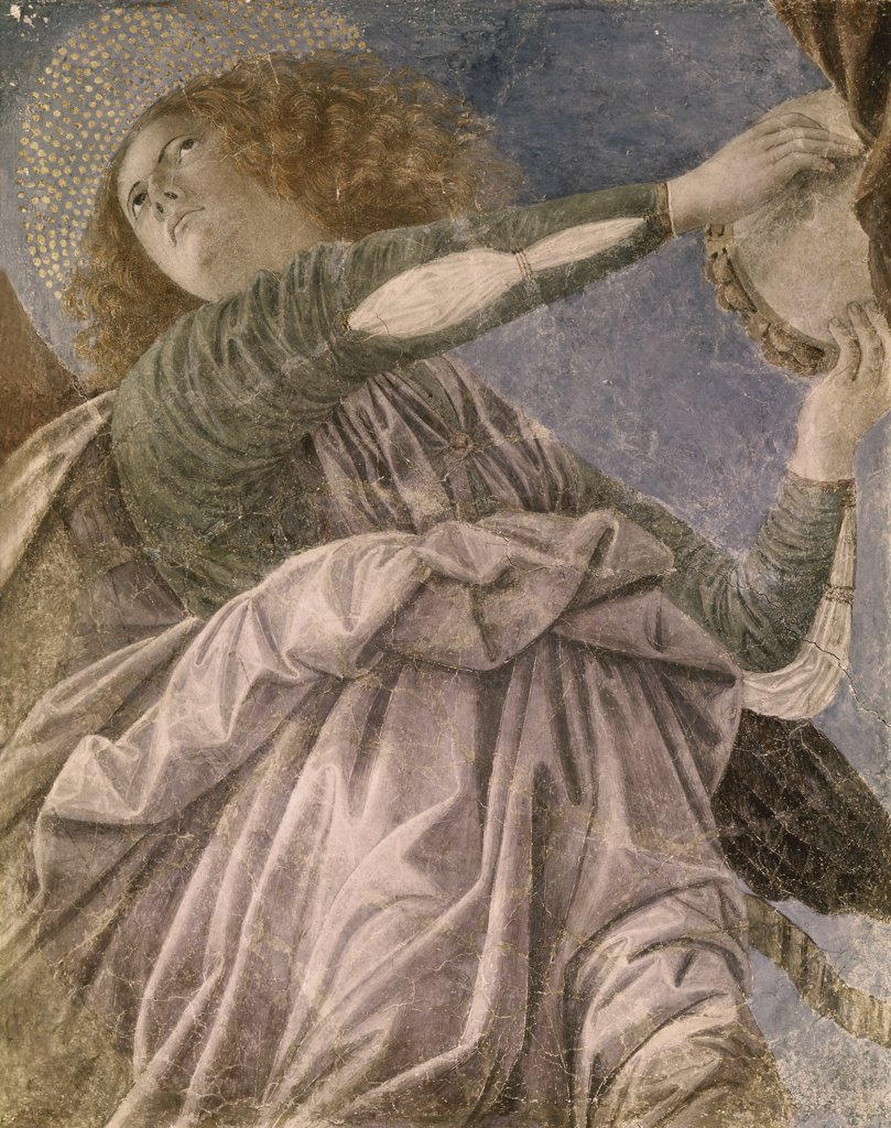 Stock Photo: 900-103749 Music Making Angel with Tambourine