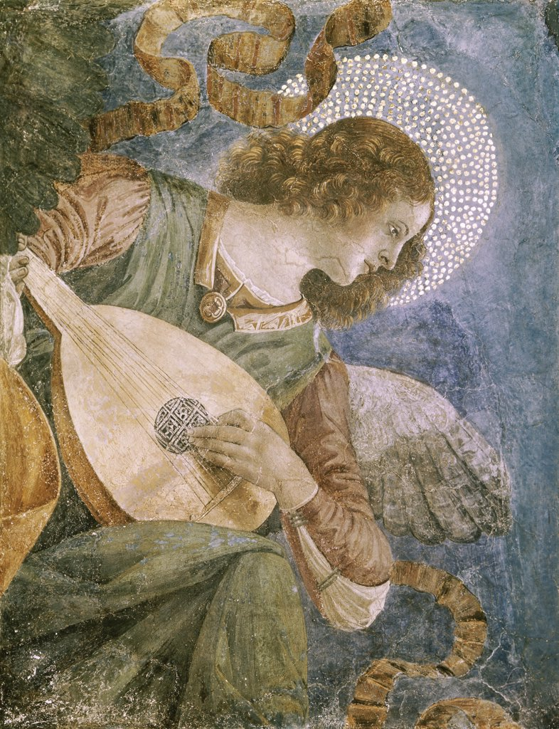 Stock Photo: 900-103750 Music Making Angel with Lute