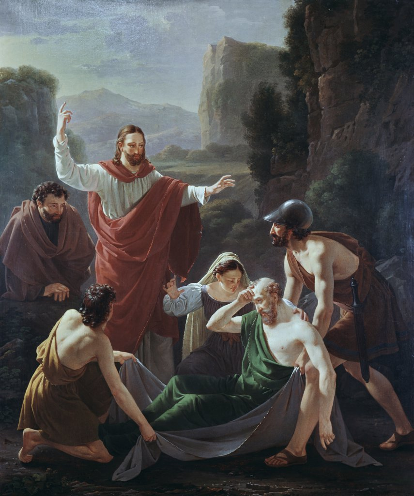 Stock Photo: 900-104119 Christ Resurrecting Lazarus