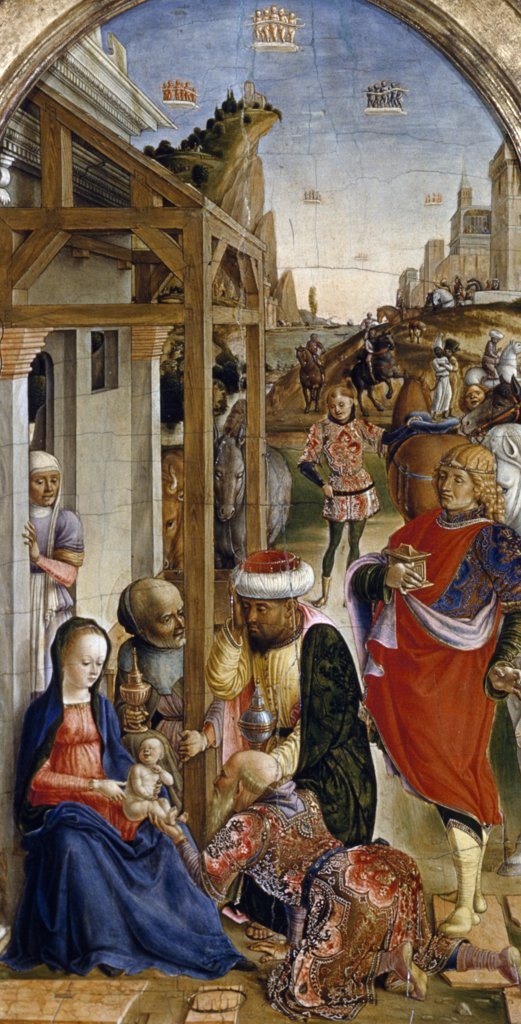 Stock Photo: 900-104842 Adoration Of The Magi by Bartolomeo Vivarini, (C.1450-1499)
