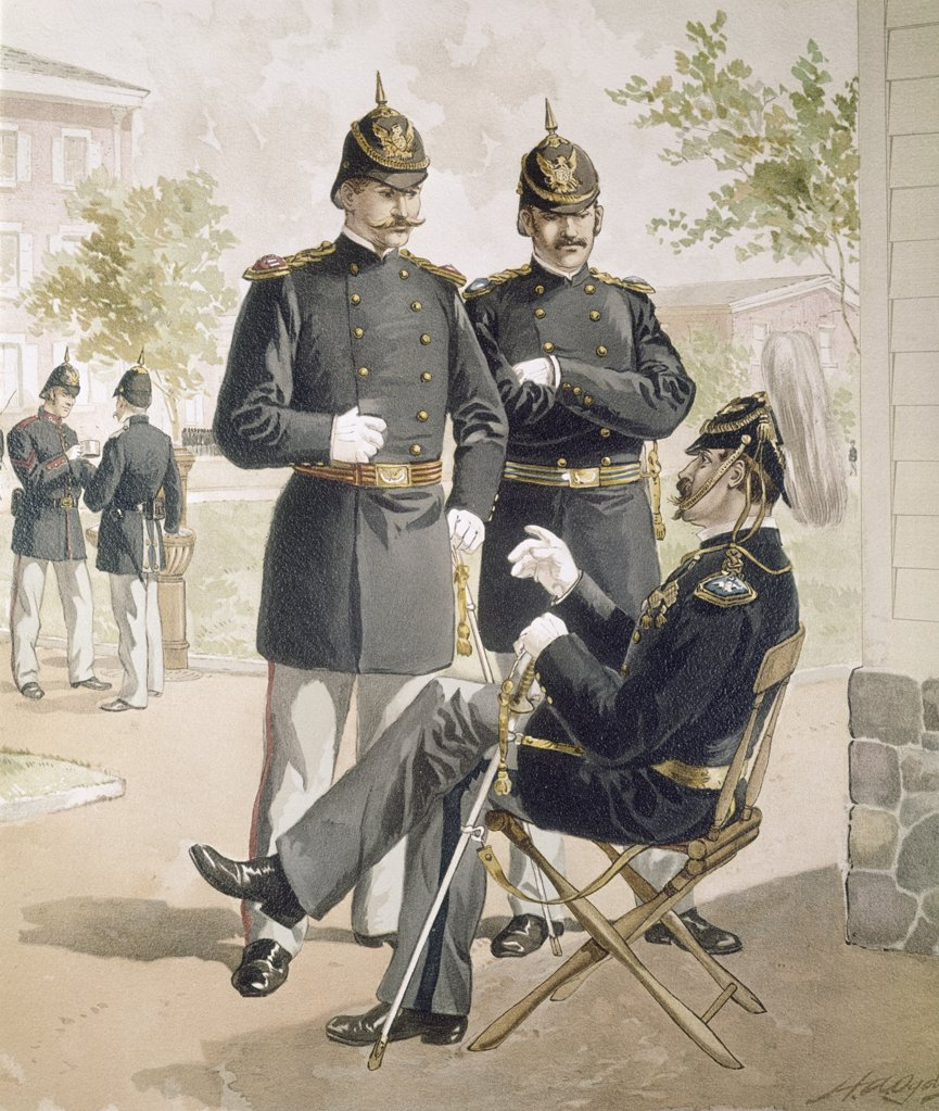 Field-And-Line Officers. Heavy Artillery. , Ogden,  Henry Alexander (1856-1936/American) : Stock Photo