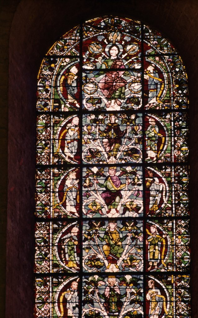 Genealogical Tree of Jesus, Stained Glass, Chartres Cathedral,  France : Stock Photo