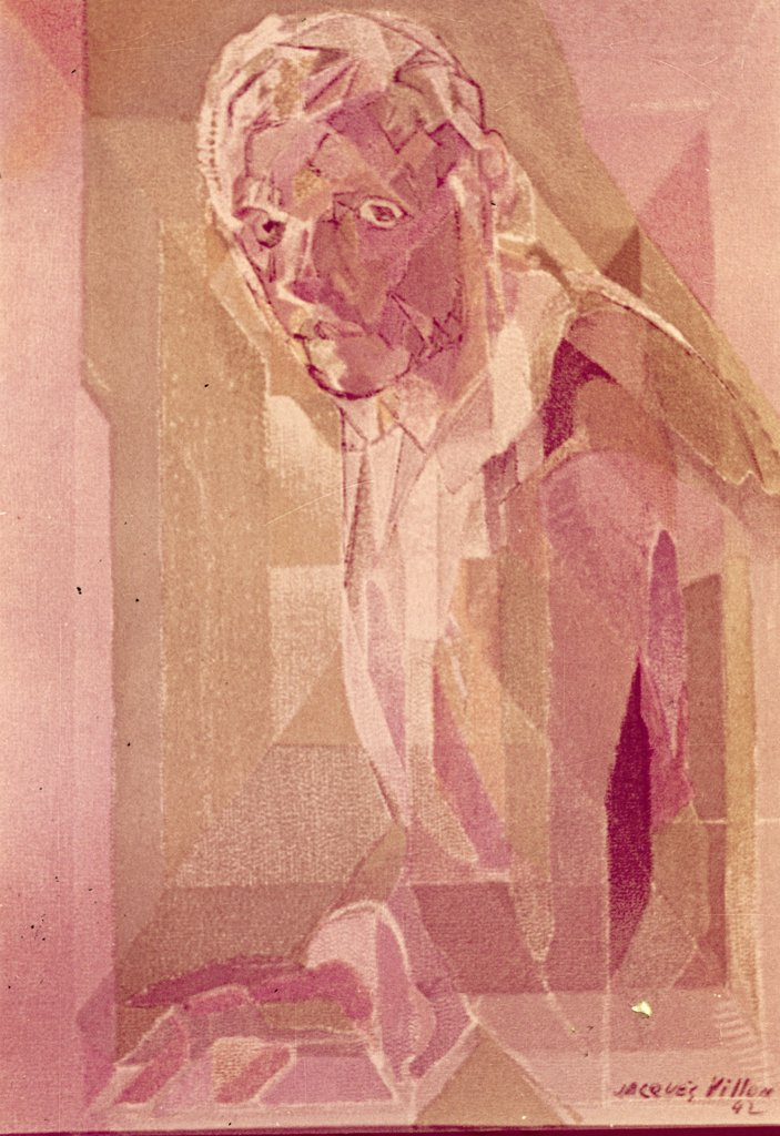 Stock Photo: 900-105309 Self-Portrait,  by Jacques Villon,  1875-1963