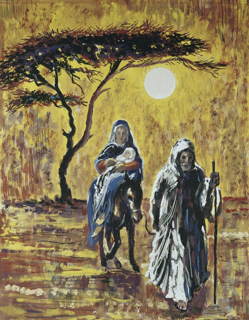 Stock Photo: 900-105352 The Flight Into Egypt