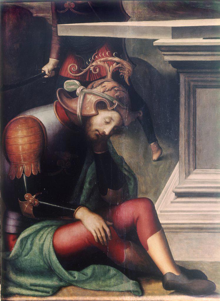 Resurrection of Christ - Detail  Pietro Perugino (ca.1450-1523 Italian)  : Stock Photo