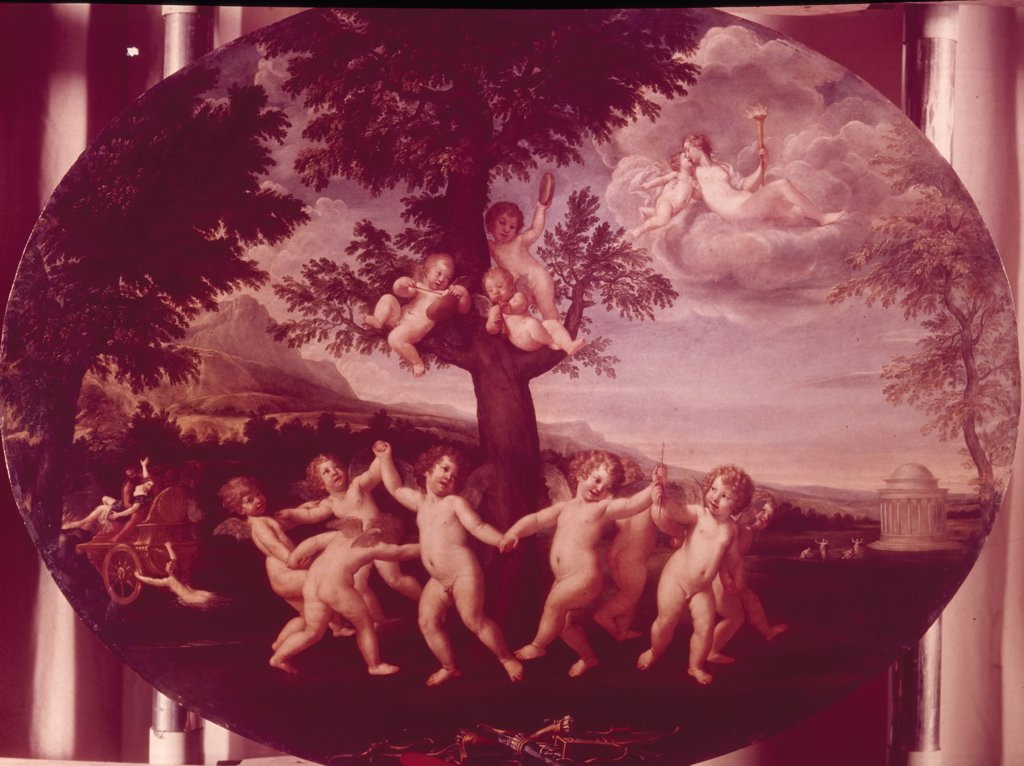 Stock Photo: 900-105602 Dance of the Amoretti,  by Francesco Albani,  1578-1660