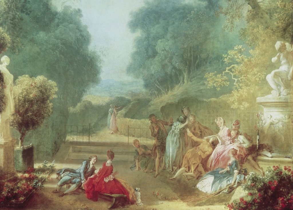 Stock Photo: 900-106616 A Game of Hot Cockles