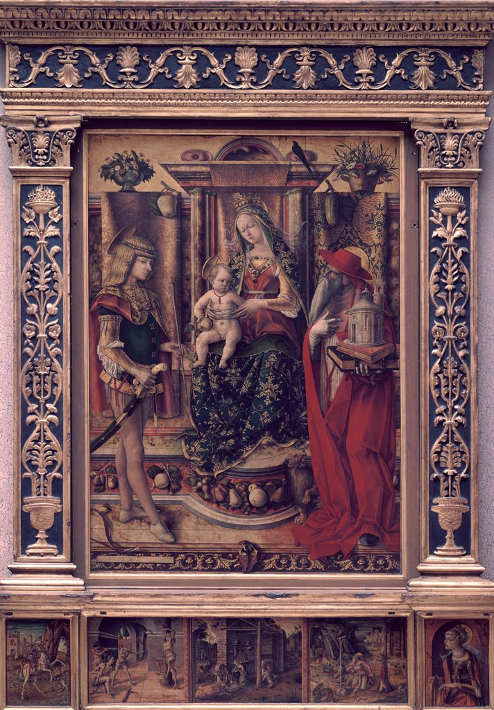 Stock Photo: 900-107025 Madonna & Child with St. Jerome and St. Sebastian 