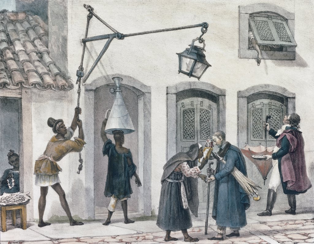 First Chores of the Morning,  The, Debret,  Jean Baptiste (1768-1848/French) : Stock Photo