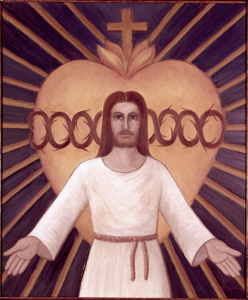 Stock Photo: 900-109068 Sacred Heart of Jesus