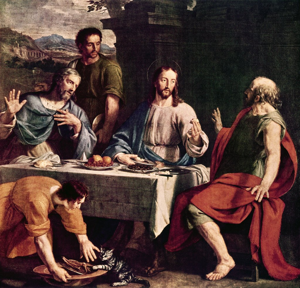 Stock Photo: 900-109095 The Disciples at Emmaus