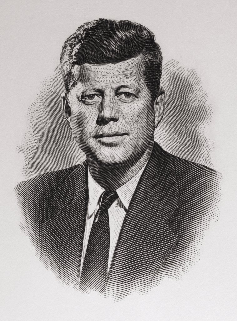 Stock Photo: 900-1095 John F. Kennedy