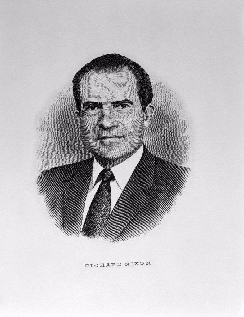 Stock Photo: 900-1097 Richard M. Nixon American History Engraving