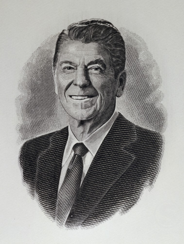Stock Photo: 900-1102 Ronald Reagan 