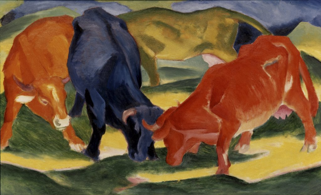 Stock Photo: 900-110216 Fighting Cows