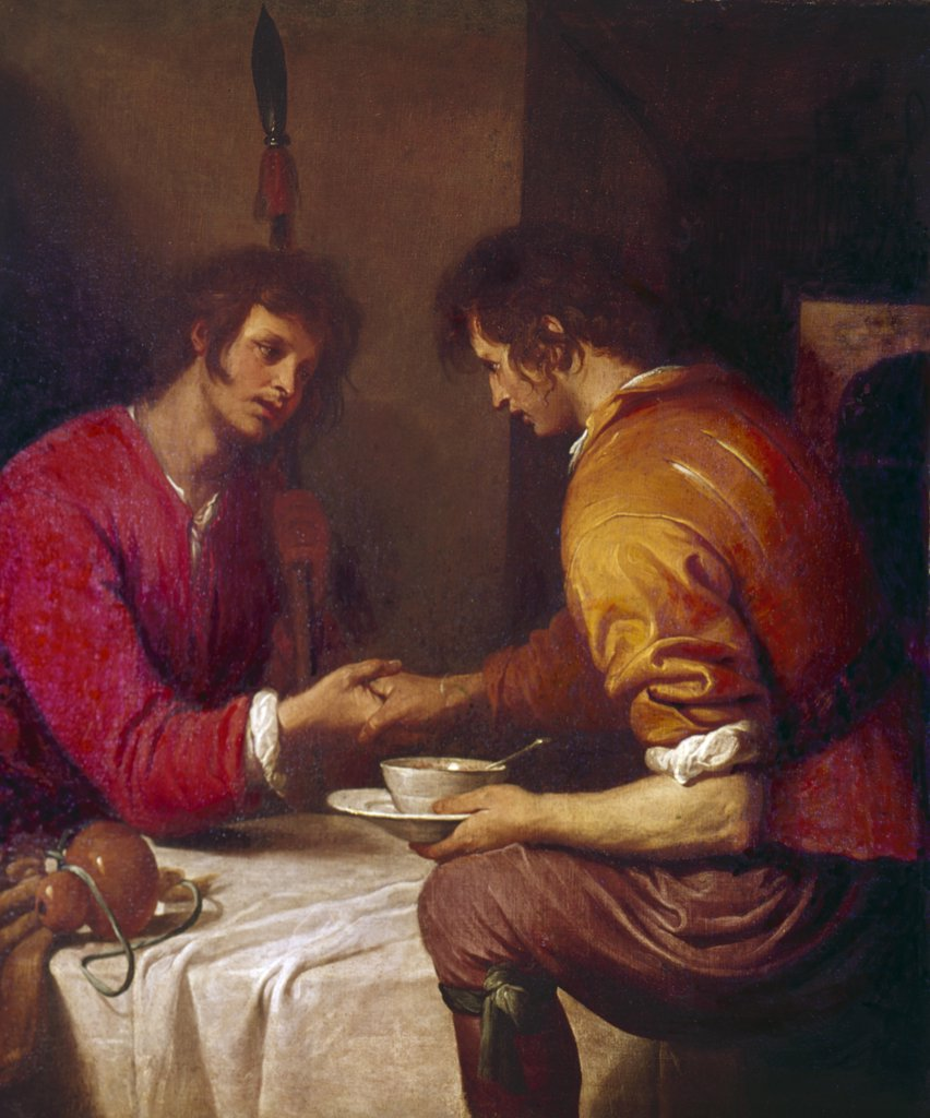 Stock Photo: 900-110323 Esau Selling His Birth Right, Ferrari, Giovanni Andrea de (1598-1669/Italian)