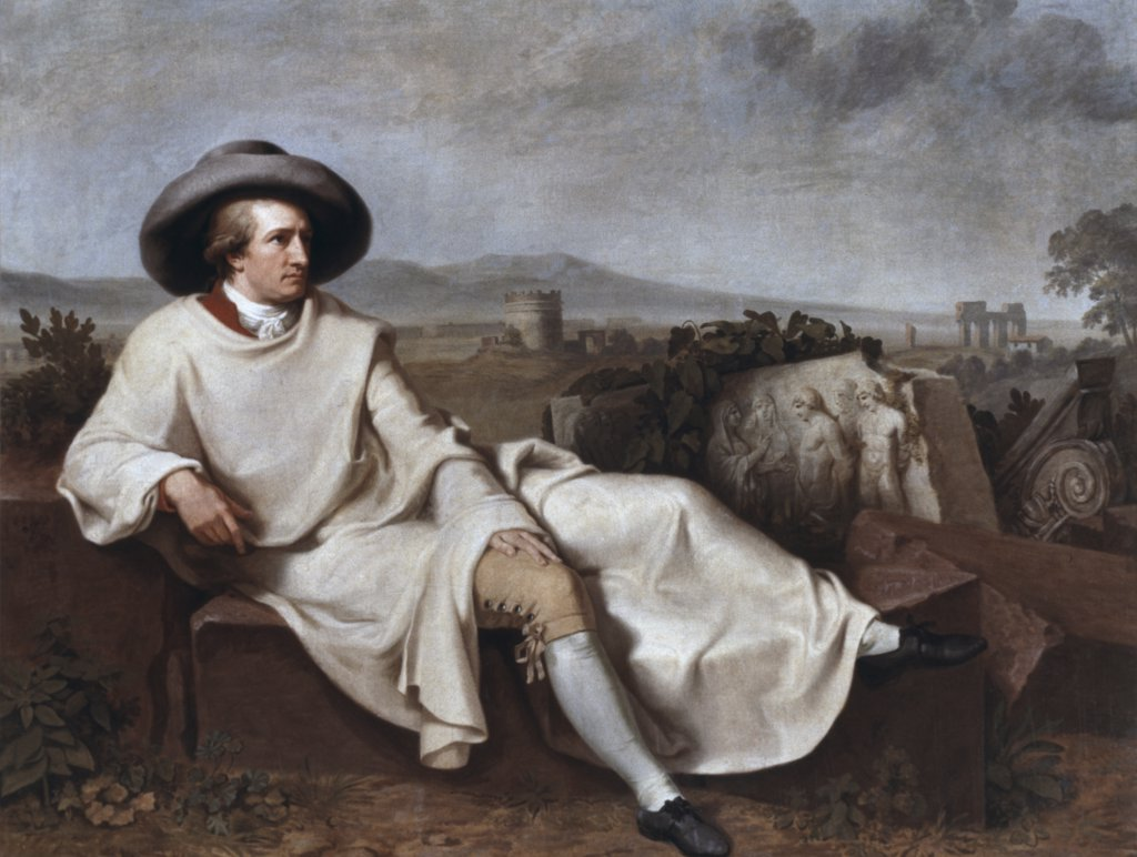 Goethe in the Roman Campagna 1787 Johann Heinrich Wilhelm Tischbein (1751-1829 German) Oil on canvas : Stock Photo