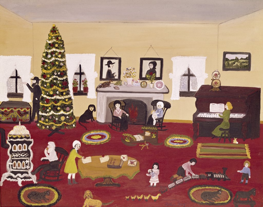 Stock Photo: 900-110807 Christmas in Pennsylvania by Helen Foy, oil on canvas, 20th Century