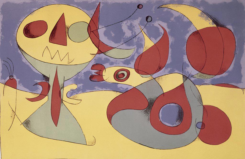 Zephyr Bird by Joan Miro, 1893-1983 : Stock Photo