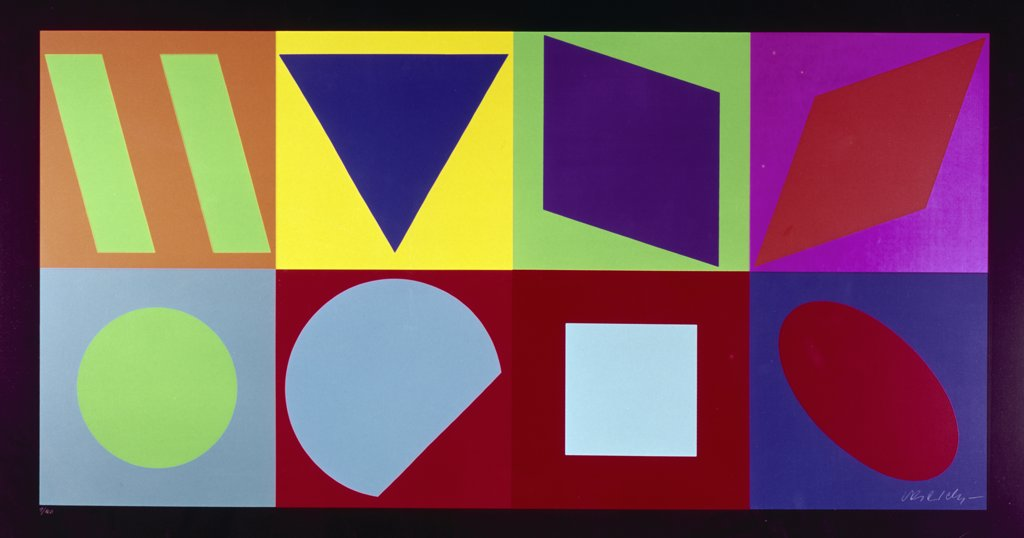 Stock Photo: 900-116394 Planetarische Folklore Forms by Victor de Vasarely,20th Century